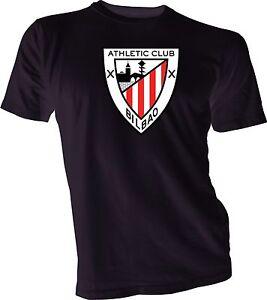 Athletic Club Bilbao Los Leones Spain La Liga Soccer Football Black T-Shirt NEW