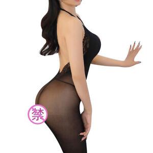 US Women's Bodysuit Body Stocking Lingerie Fishnet Babydoll Nightwear Sleepwear
