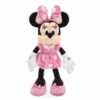 """Disney Authentic Pink Dress Minnie Mouse Soft Plush Toy 14"""" Tall Girls Gift New"""