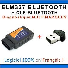 Interface Diagnostique Multimarques ELM327 BLUETOOTH + Clé - OBD2 / Android