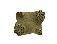Ancien Bunta Tampon bois impression Tissus textile Batik antique Inde X02