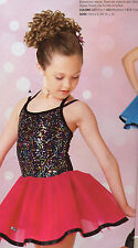 NWOT Dance Costume Party Pageant Costume Small Child Rasberry Sequin Ribbon hem