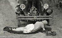 Old Vintage Automobile Car Antique Naughty French Model Photo1920's 372