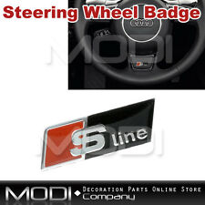 S LINE STEERING WHEEL BADGE EMBLEM STICKER FOR A3 A4 A5 A6 S3 S4 S5 TT Q7 SLINE
