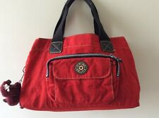 KIPLING ladies red and black multi compartment tote handbag with monkey