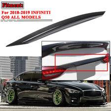 For Infiniti Q50 18-19 Rear Trunk Door Tailgate Trim Cover Molding Carbon