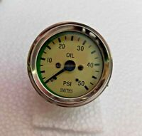 Smiths Replica 52 mm  Mechanical 50 psi Oil Pressure Gauge Cream Magnolia