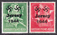 GERMANY B281-B282 JERSEY 1944 OVERPRINT OG NH U/M F/VF TO VF