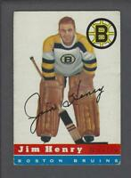 1954-55 Topps Boston Bruins Hockey Card #37 Jim Henry
