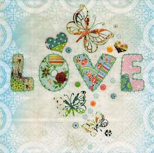 4 Servietten Motivservietten Napkin Serviettentechnik Liebe Love  (1431)