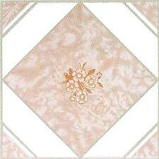 Beige Vinyl Floor Tiles 40 Pc Adhesive Kitchen Flooring - Actual 12'' x 12''