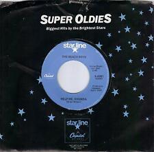 THE BEACH BOYS  Help Me Rhonda / Do You Wanna Dance  45 on BLUE Starline label