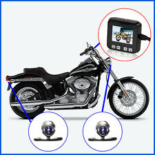 "Biker's Motorcycle Action Sport Camera DVR with 2"" Monitor Front and Back Camera"