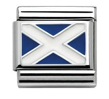 Nomination Charm Silvershine Scotland Flag RRP £22