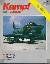Kampf Magazin Born in Battle Blitzkrieg Luftkrieg über den Golan IAF Mosquito