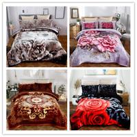 Warm Blanket Purple Burgundy Brown Thick Soft Plush Sherpa Bedding Sheet