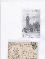 england big ben london 1907 stamps card Ref 9583