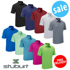 Stuburt Mens Sport Tech Golf Polo Shirt Short Sleeve Golf Top