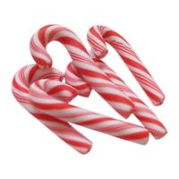 50Pcs Red And White Handmade Christmas Candy Cane Kawaii Miniature Food DolH5S6