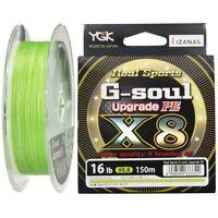 Yotsuami YGK G-Soul X8 Upgrade 16lb #0.8-150m PE 8 Braid Green Line Japan*