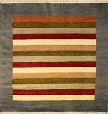 Rugstc 6x6 Senneh Gabbeh Multicolored Area Rug,Vegetable dye, Hand-Knotted,Wool