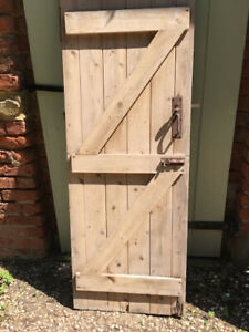 Reclaimed Stripped Pine Ledged & Braced Plank Door 613 x 1665mm