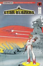 Star Blazers #1 1987 Comico Mini Series Tv Cartoon Vf White Pages