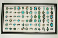 Navajo, Zuni & Other Sterling Silver Turquoise, Coral, Enamel Ring Collection!