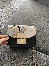 Furla Metropolis Mini bag Lady Shoulder bag  leather crossbody GRAY Color