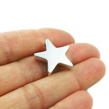 Star Pendant 925 Sterling Silver Three Dimensional Celestial Drop
