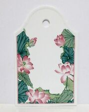 Villeroy & Boch Jade Bone China Cheese Cracker Board Wall Hanging Pink Flowers