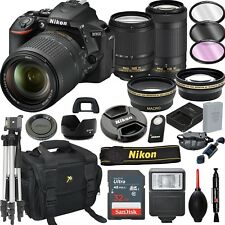 Nikon D5600 DSLR Camera with 18-140mm +70-300mm VR Lenses- 21pc Bundle