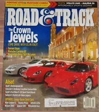 JULY 2004 ROAD & TRACK MAGAZINE FERRARI ENZO, PORSCHE CARRERA GT, SLR McLAREN