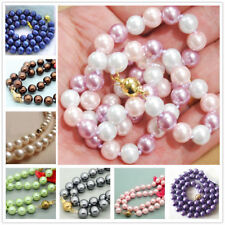 """Long 16"""" 18"""" 25""""  Women's 8mm Akoya Shell Pearl Round Beads Necklace AAA"""