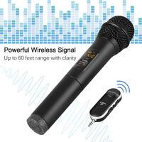 Wireless Microphone Mic Karaoke KTV USB Speaker Player W/ Bluetooth Receiver