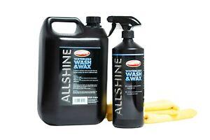 Waterless Car Wash & Wax Kit (Makes 5 litres) + 2 x Premium Microfibres