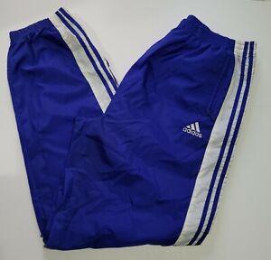 Vintage Adidas Tear Away Snaps Blue Windbreaker Pants XL