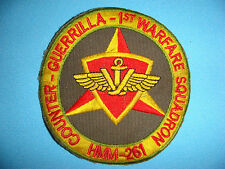 VIETNAM WAR PATCH, USMC COUNTER-GUERRILLA TEAM, 1st WARFARE SQ - HMM-261