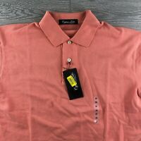 NWT Cypress Links Men's 100% Cotton Short Sleeve Solid Coral Polo Shirt - XLarge