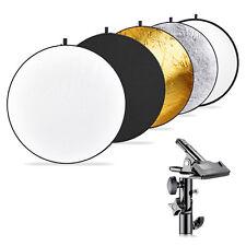 Neewer Fotografía reflector de luz Multi-disco 5 en 1 110cm con abrazadera