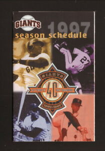 San Francisco Giants--Mays--Bonds--McCovey--1997 Pocket Schedule--Coke
