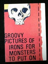 1975 Topps Wacky Packages Iron-Ons Puzzle Center Right 15th Series rare
