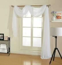 "1 Pc Sheer Window Scarf Valance Premium Fabric Window Treatment 37"" X 216"""