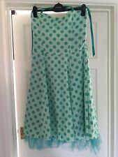ATMOSPHERE Green Polka Dot Halter Neck Dress Size 12 Cruise Party Summer