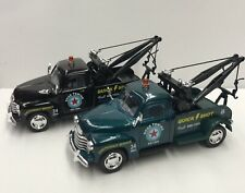 1953 Chevy 3100 Tow Truck Diecast, 1:38 Scale Pull Back Action Car Set Of 2