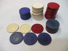 Vintage Embossed Poker Chips