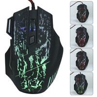 Wired PC Gameing Adjustable DPI for Laptop 7-Button Gaming Mouse RGB LED Light