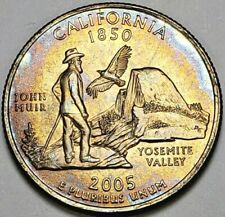 2005-P CALIFORNIA STATE QUARTER TONED BOTH SIDES GREAT CONDITION CHOICE BU