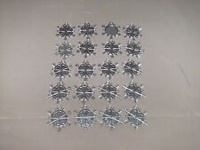 "SNOWFLAKE;Large Tibet Silver Snowflake 1 5/8 X 1 5/8"" LOT OF 20 ""LOOK"" NEW"
