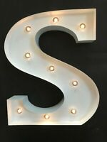 LED LIGHT CARNIVAL WHITE WEDDING CELEBRATION LETTER M ALL METAL LARGE 33 CM